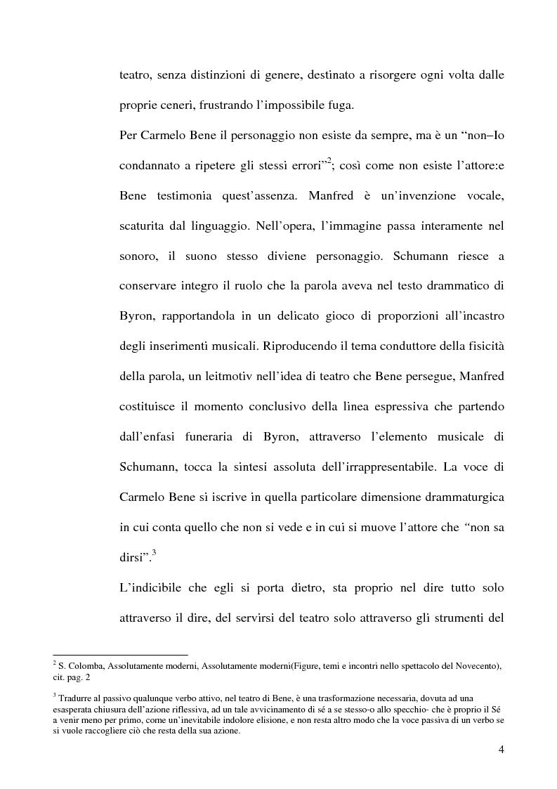 Anteprima della tesi: Il ritmo del ''farsi dire'' in Carmelo Bene, Pagina 4
