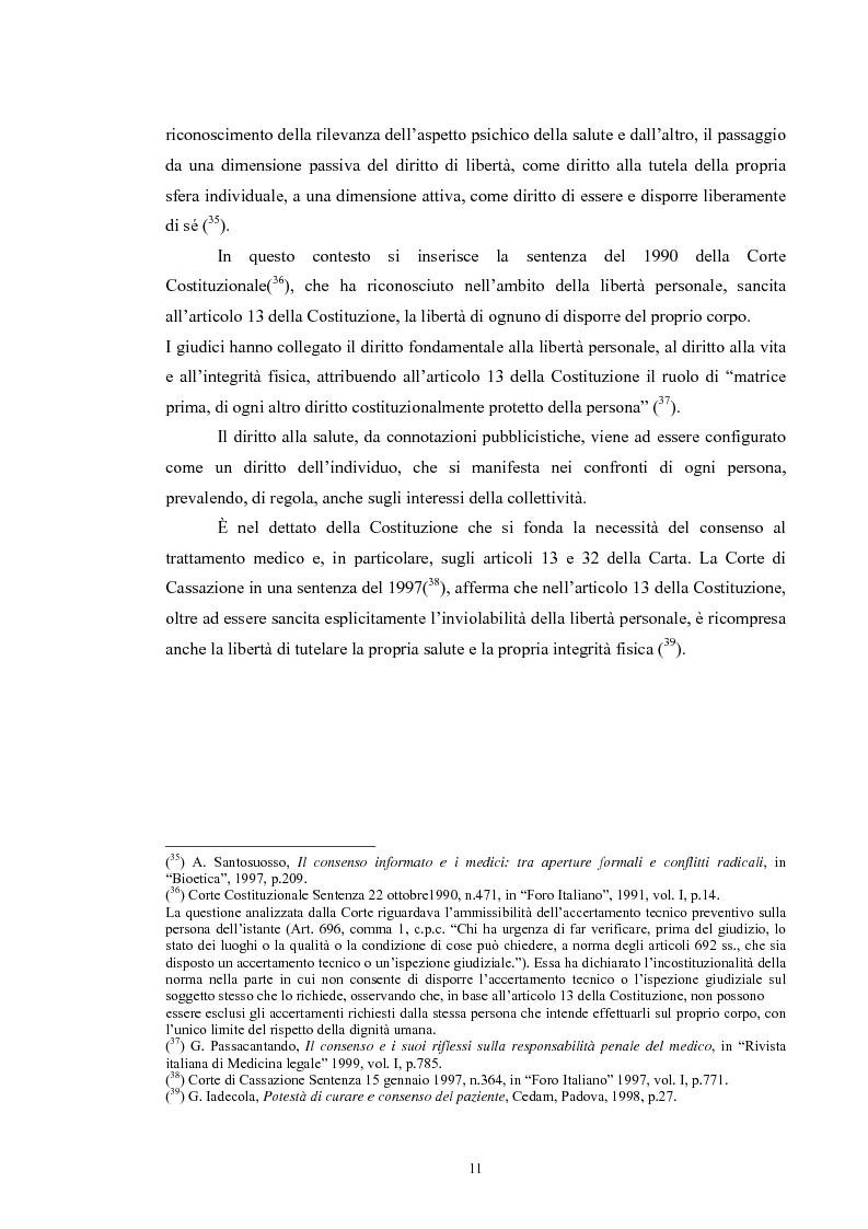 Anteprima della tesi: Il consenso informato nelle ASL della Toscana, Pagina 11