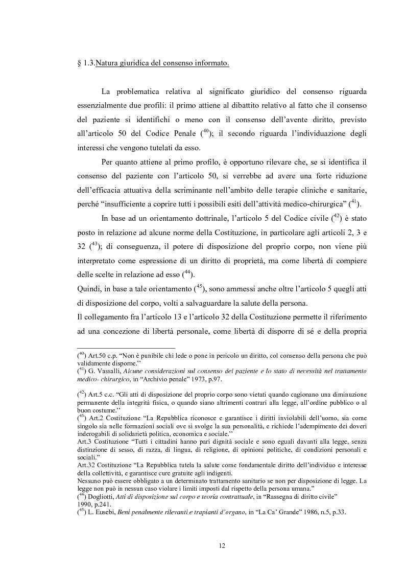 Anteprima della tesi: Il consenso informato nelle ASL della Toscana, Pagina 12