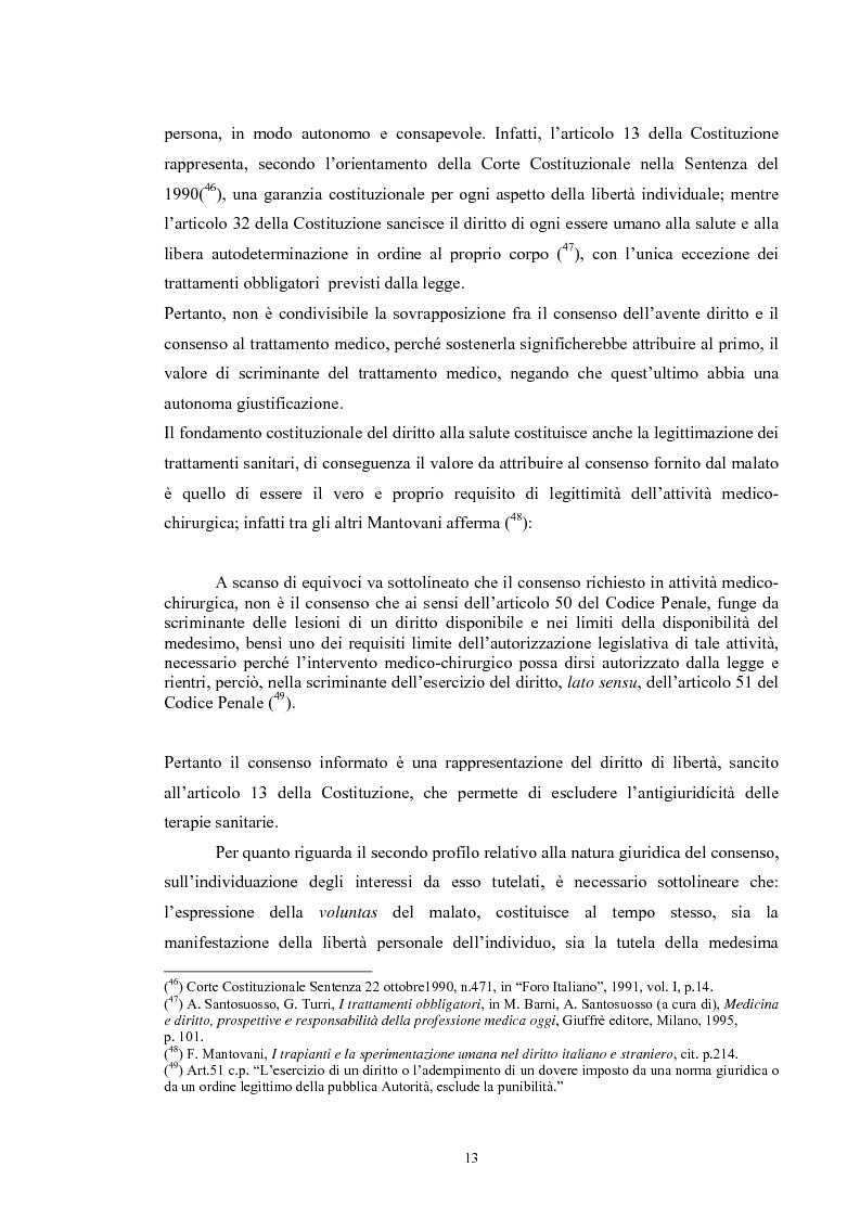 Anteprima della tesi: Il consenso informato nelle ASL della Toscana, Pagina 13