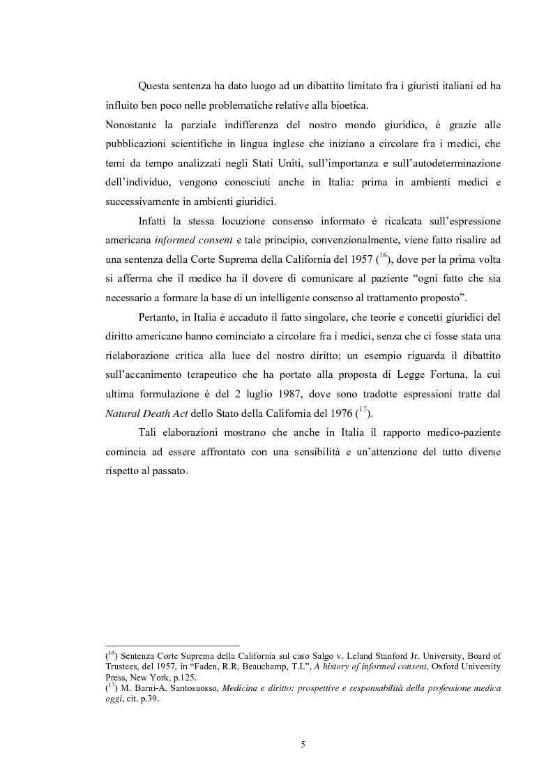 Anteprima della tesi: Il consenso informato nelle ASL della Toscana, Pagina 5