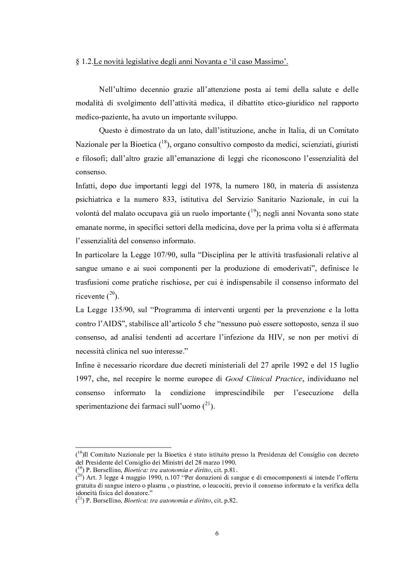 Anteprima della tesi: Il consenso informato nelle ASL della Toscana, Pagina 6