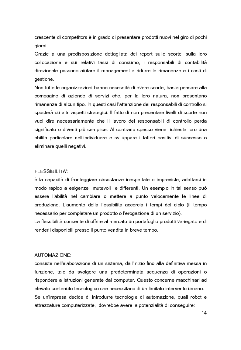 Anteprima della tesi: Contabilità direzionale e controllo di gestione nelle imprese ad elevato contenuto innovativo, Pagina 11