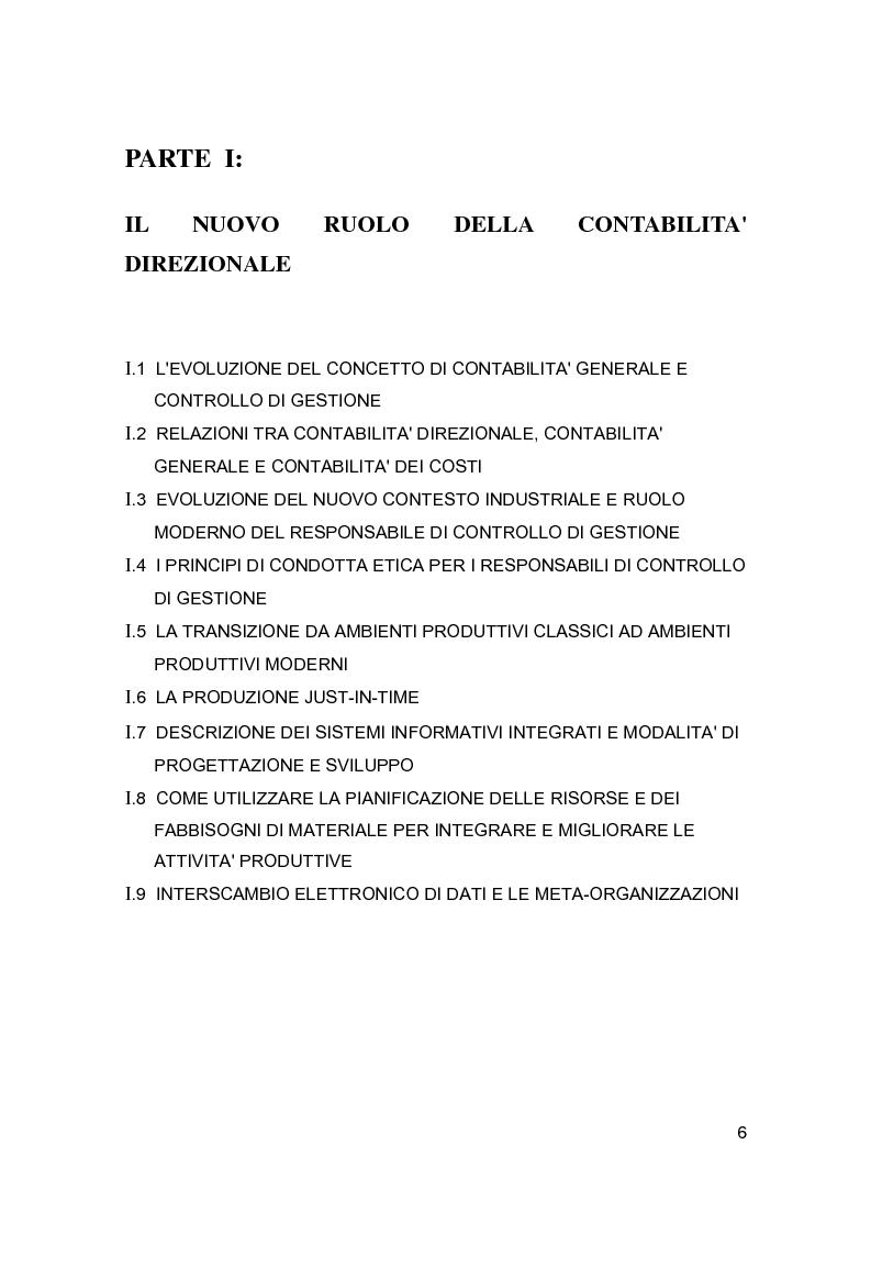 Anteprima della tesi: Contabilità direzionale e controllo di gestione nelle imprese ad elevato contenuto innovativo, Pagina 3
