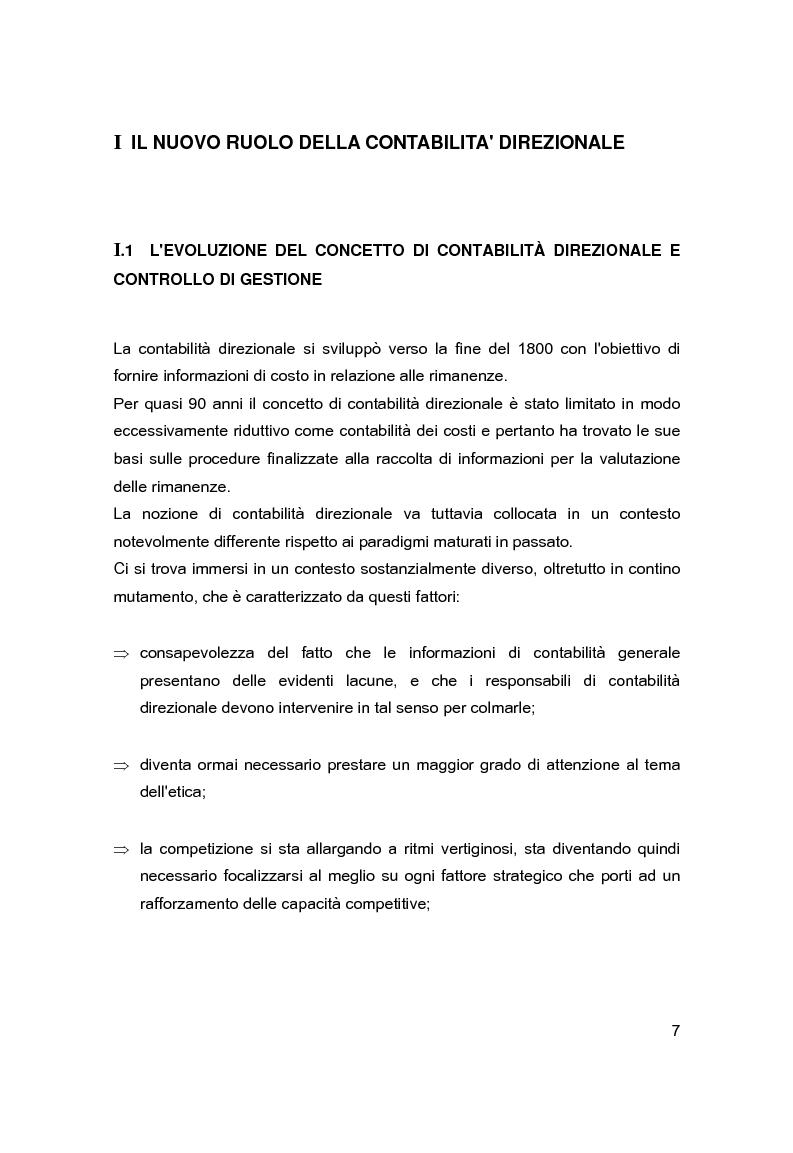 Anteprima della tesi: Contabilità direzionale e controllo di gestione nelle imprese ad elevato contenuto innovativo, Pagina 4