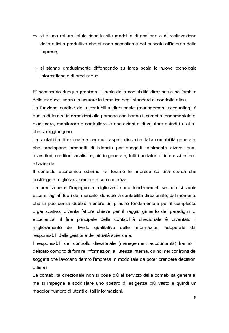Anteprima della tesi: Contabilità direzionale e controllo di gestione nelle imprese ad elevato contenuto innovativo, Pagina 5