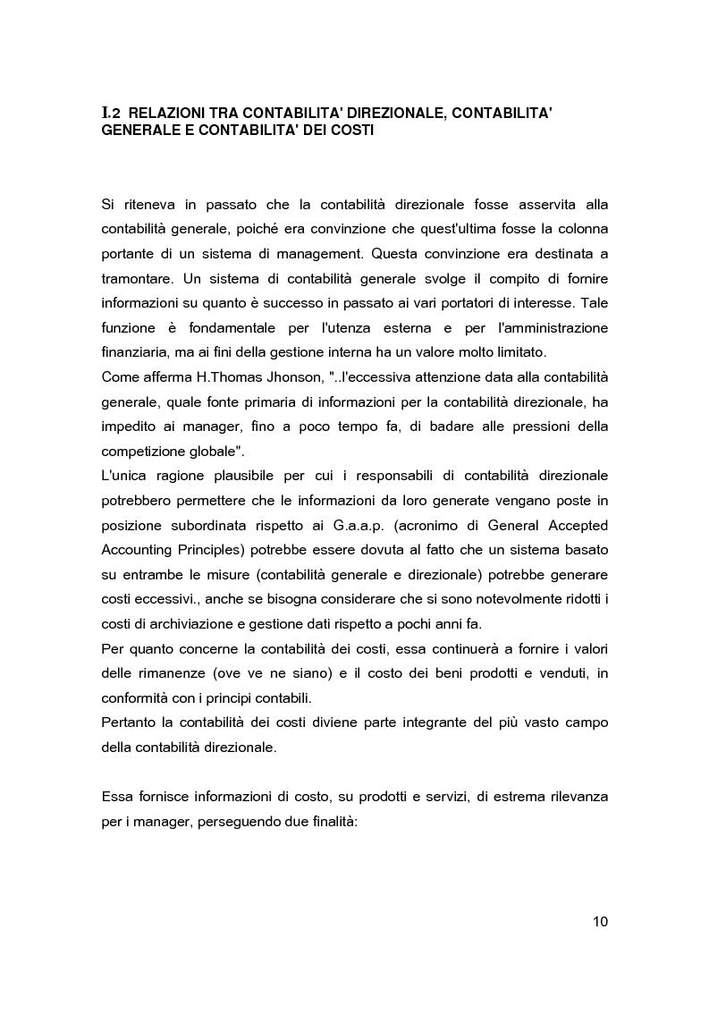 Anteprima della tesi: Contabilità direzionale e controllo di gestione nelle imprese ad elevato contenuto innovativo, Pagina 7