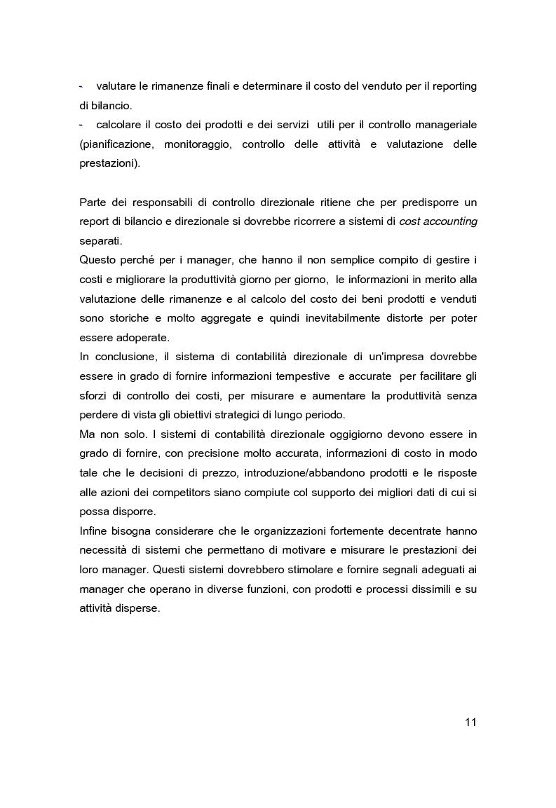 Anteprima della tesi: Contabilità direzionale e controllo di gestione nelle imprese ad elevato contenuto innovativo, Pagina 8
