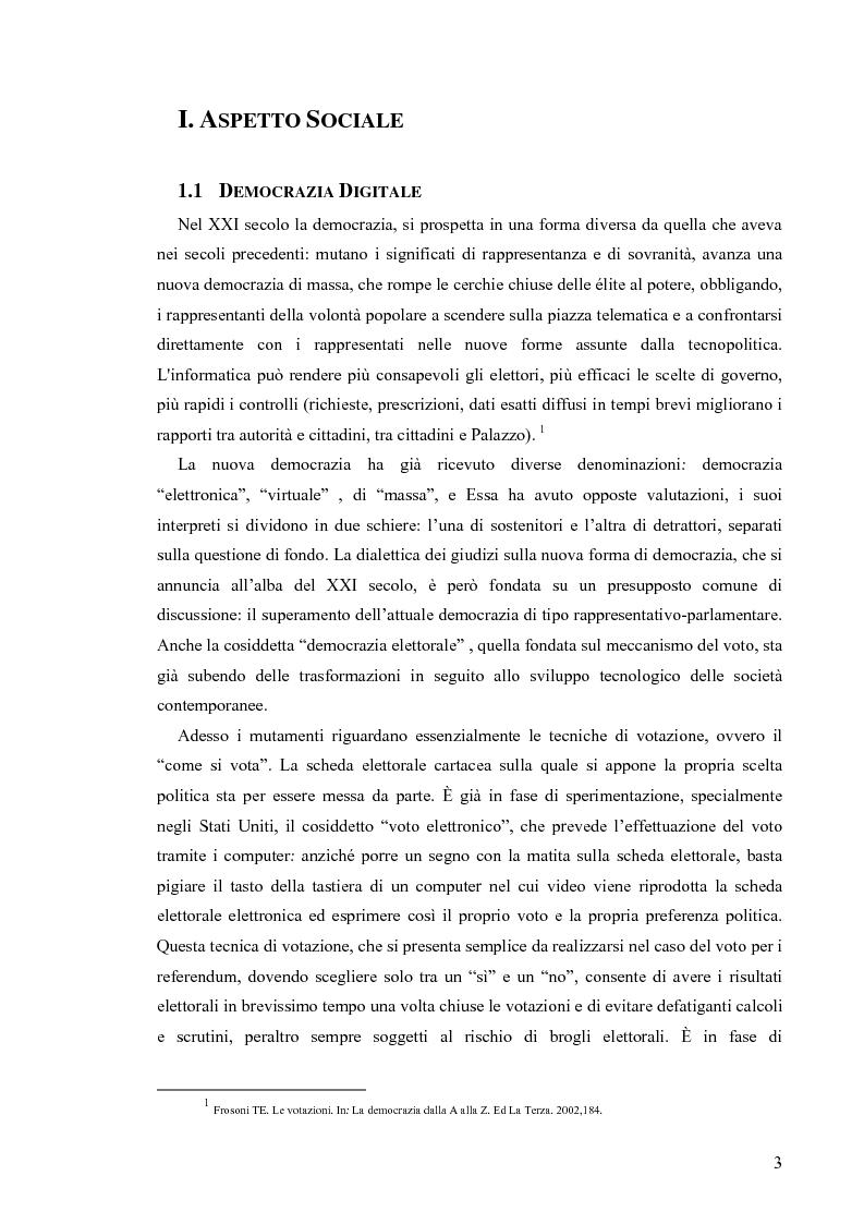 Anteprima della tesi: La votazione elettorale telematica, Pagina 2