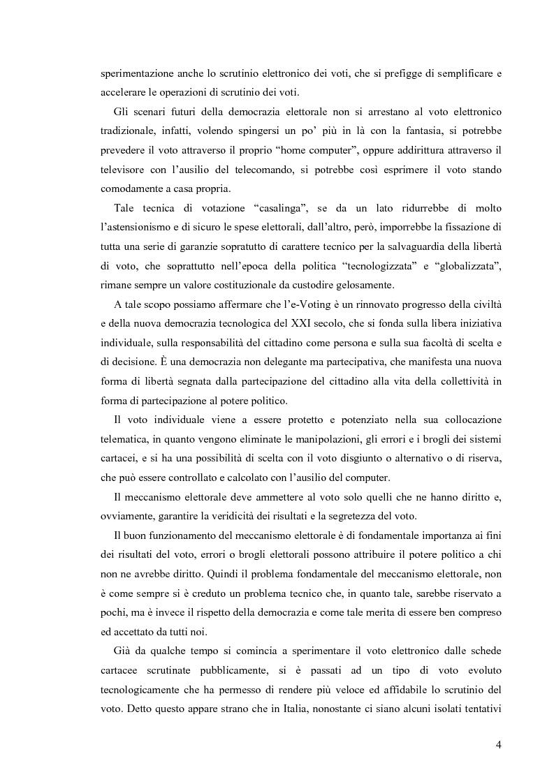 Anteprima della tesi: La votazione elettorale telematica, Pagina 3