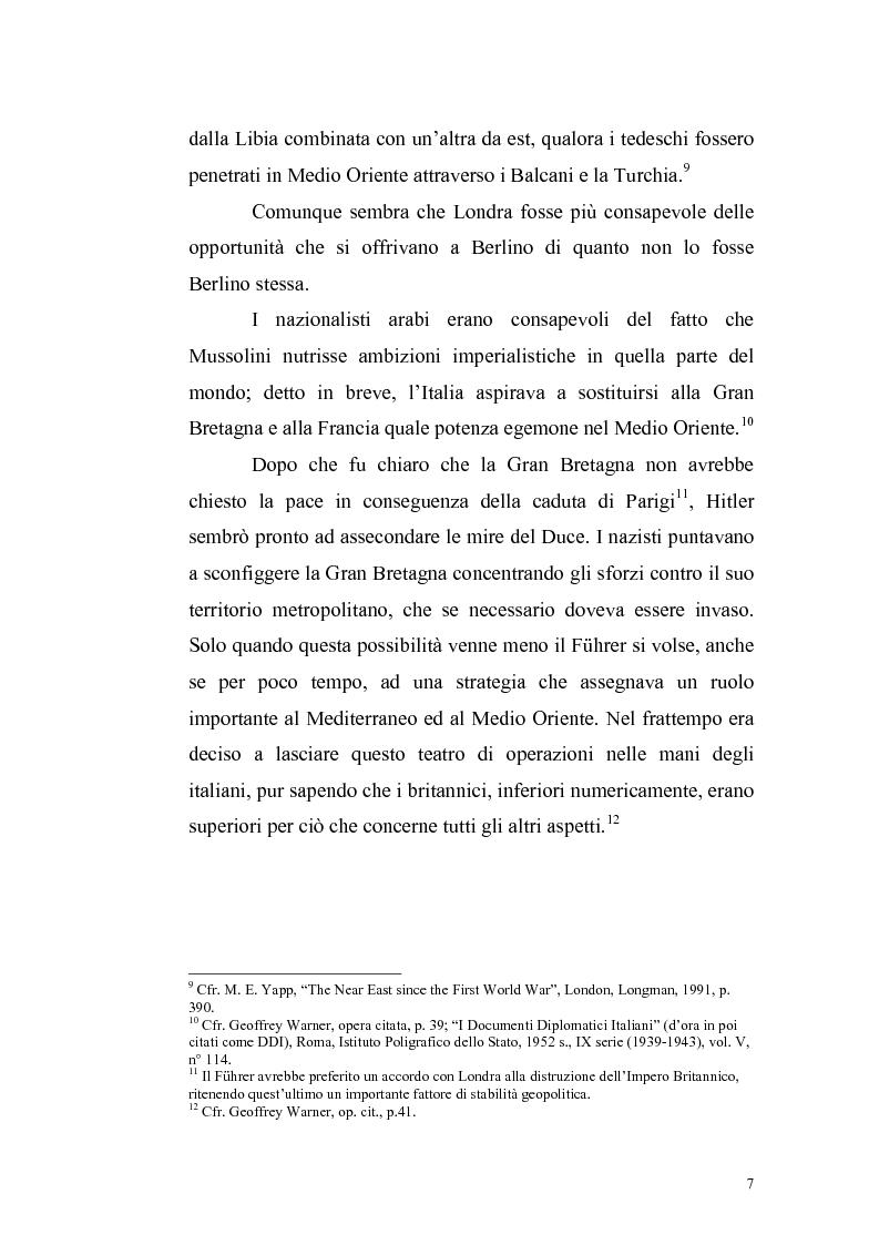 Anteprima della tesi: La crisi irachena dell'aprile-maggio 1941 nella politica della Seconda Guerra Mondiale, Pagina 5