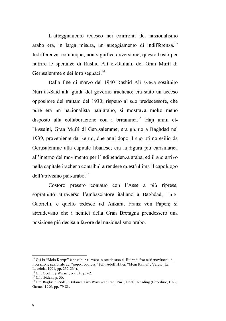 Anteprima della tesi: La crisi irachena dell'aprile-maggio 1941 nella politica della Seconda Guerra Mondiale, Pagina 6