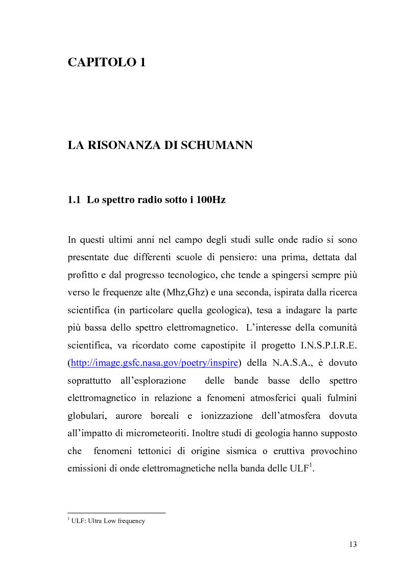 Anteprima della tesi: La risonanza naturale della cavità terrestre: possibili effetti sulla fisiopatologia umana, Pagina 12