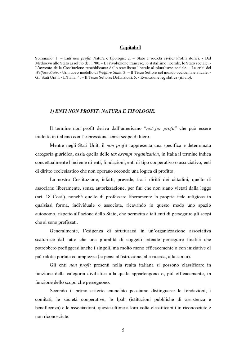 Anteprima della tesi: Le associazioni di promozione sociale, Pagina 1
