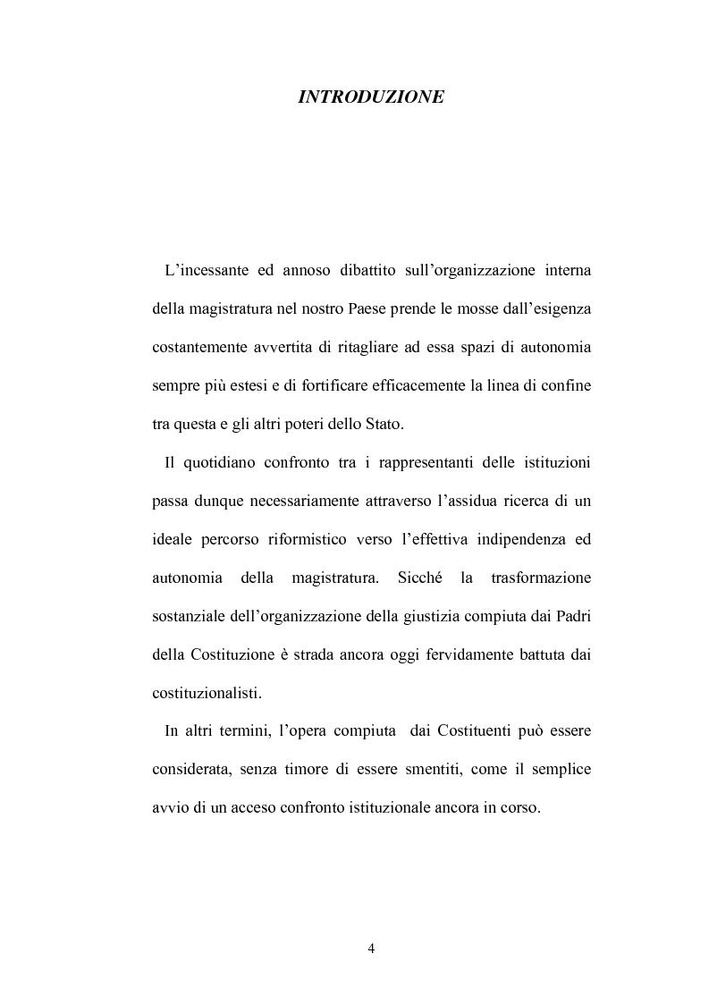 Anteprima della tesi: Organizzazione della giustizia e indipendenza del giudice, Pagina 1
