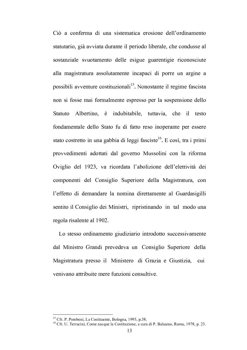 Anteprima della tesi: Organizzazione della giustizia e indipendenza del giudice, Pagina 10