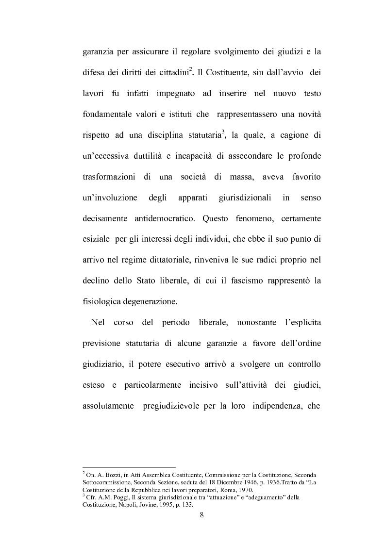 Anteprima della tesi: Organizzazione della giustizia e indipendenza del giudice, Pagina 5
