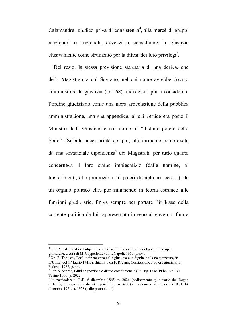 Anteprima della tesi: Organizzazione della giustizia e indipendenza del giudice, Pagina 6