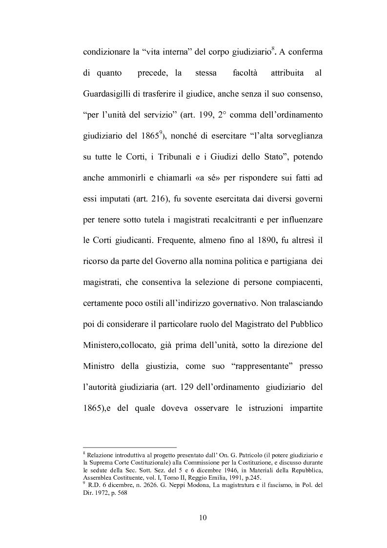Anteprima della tesi: Organizzazione della giustizia e indipendenza del giudice, Pagina 7