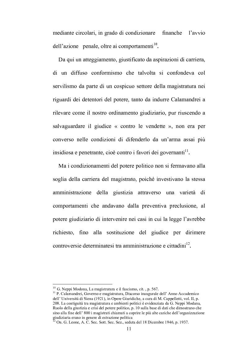Anteprima della tesi: Organizzazione della giustizia e indipendenza del giudice, Pagina 8