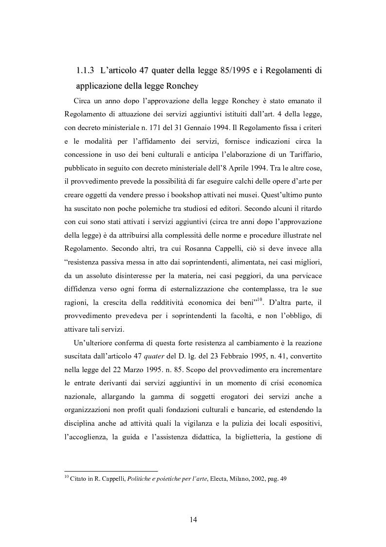 Anteprima della tesi: Forme gestionali e meccanismi istituzionali nella prestazione di servizi museali: l'esperienza di Palazzo Reale, Pagina 10