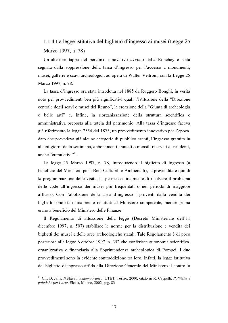 Anteprima della tesi: Forme gestionali e meccanismi istituzionali nella prestazione di servizi museali: l'esperienza di Palazzo Reale, Pagina 13