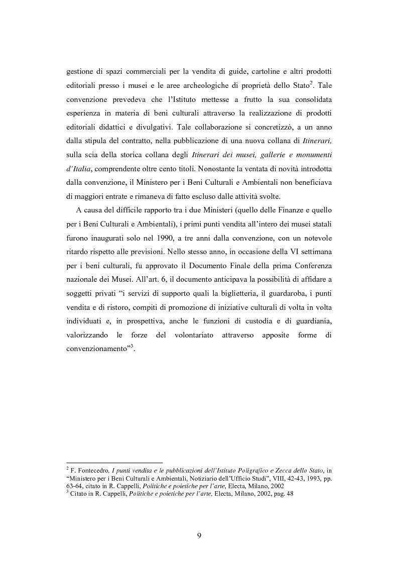 Anteprima della tesi: Forme gestionali e meccanismi istituzionali nella prestazione di servizi museali: l'esperienza di Palazzo Reale, Pagina 5