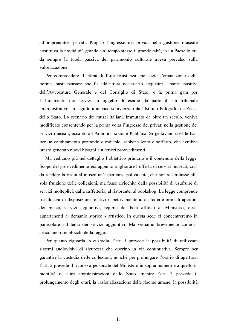 Anteprima della tesi: Forme gestionali e meccanismi istituzionali nella prestazione di servizi museali: l'esperienza di Palazzo Reale, Pagina 7