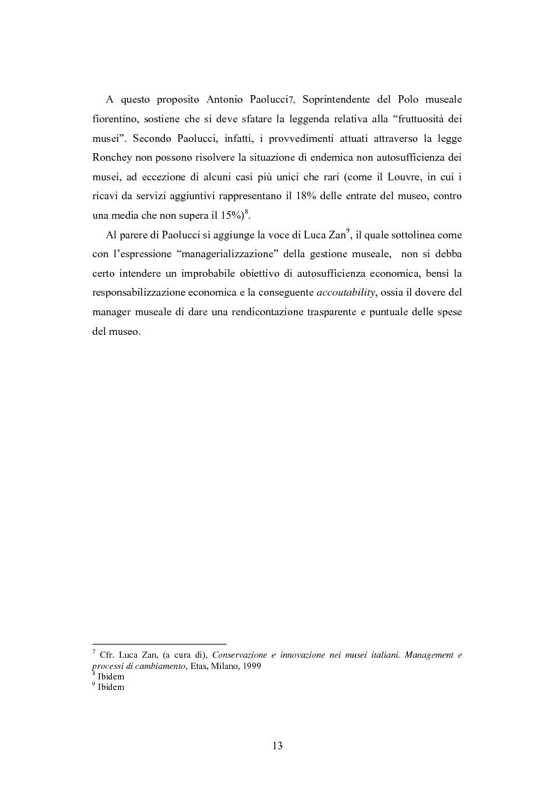 Anteprima della tesi: Forme gestionali e meccanismi istituzionali nella prestazione di servizi museali: l'esperienza di Palazzo Reale, Pagina 9