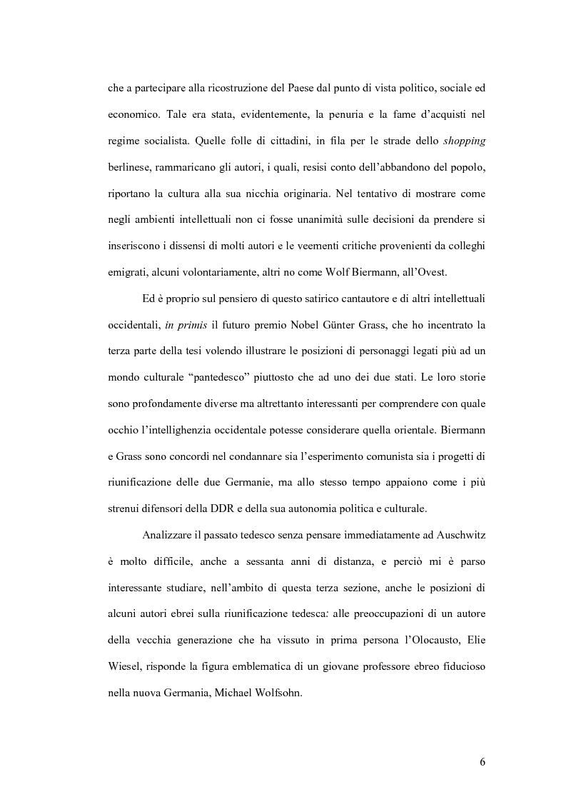 Anteprima della tesi: Letteratura e politica: il dibattito intellettuale nella Germania della ''svolta'', Pagina 4
