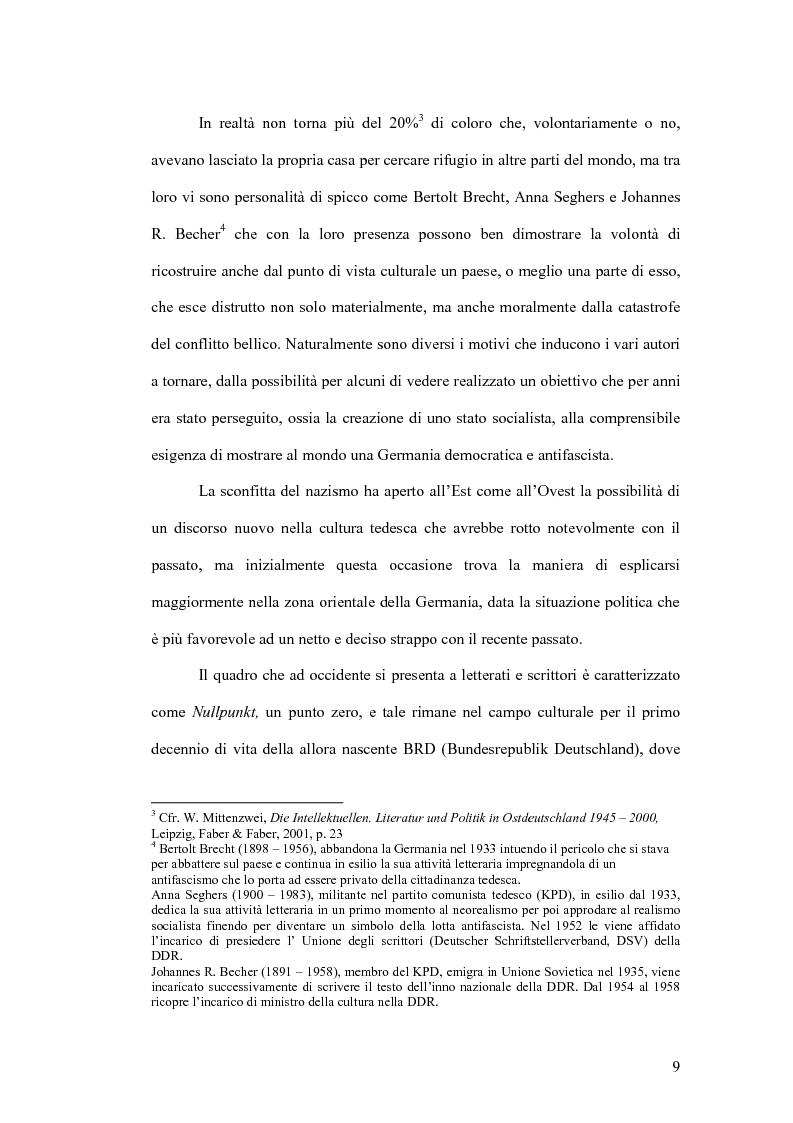 Anteprima della tesi: Letteratura e politica: il dibattito intellettuale nella Germania della ''svolta'', Pagina 7