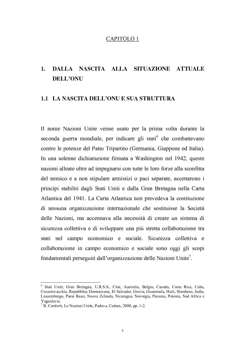 Anteprima della tesi: La riforma del Consiglio di Sicurezza delle Nazioni Unite, Pagina 3