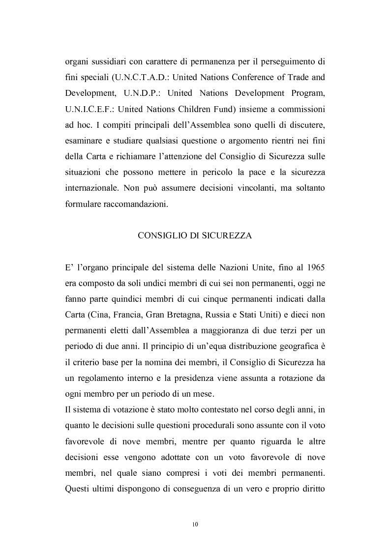 Anteprima della tesi: La riforma del Consiglio di Sicurezza delle Nazioni Unite, Pagina 8