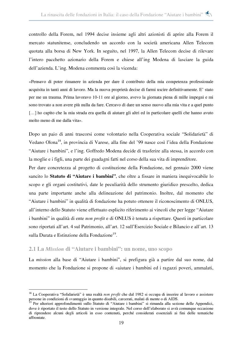 Anteprima della tesi: Forme di collaborazione interculturale. Obiettivi e performance della Fondazione ''Aiutare i bambini'', Pagina 13
