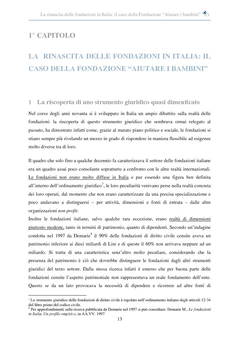 Anteprima della tesi: Forme di collaborazione interculturale. Obiettivi e performance della Fondazione ''Aiutare i bambini'', Pagina 7