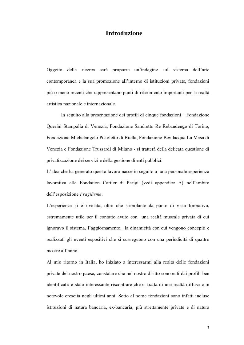 Anteprima della tesi: Fondazioni per l'arte contemporanea: verso la definizione di un modello gestionale, Pagina 1