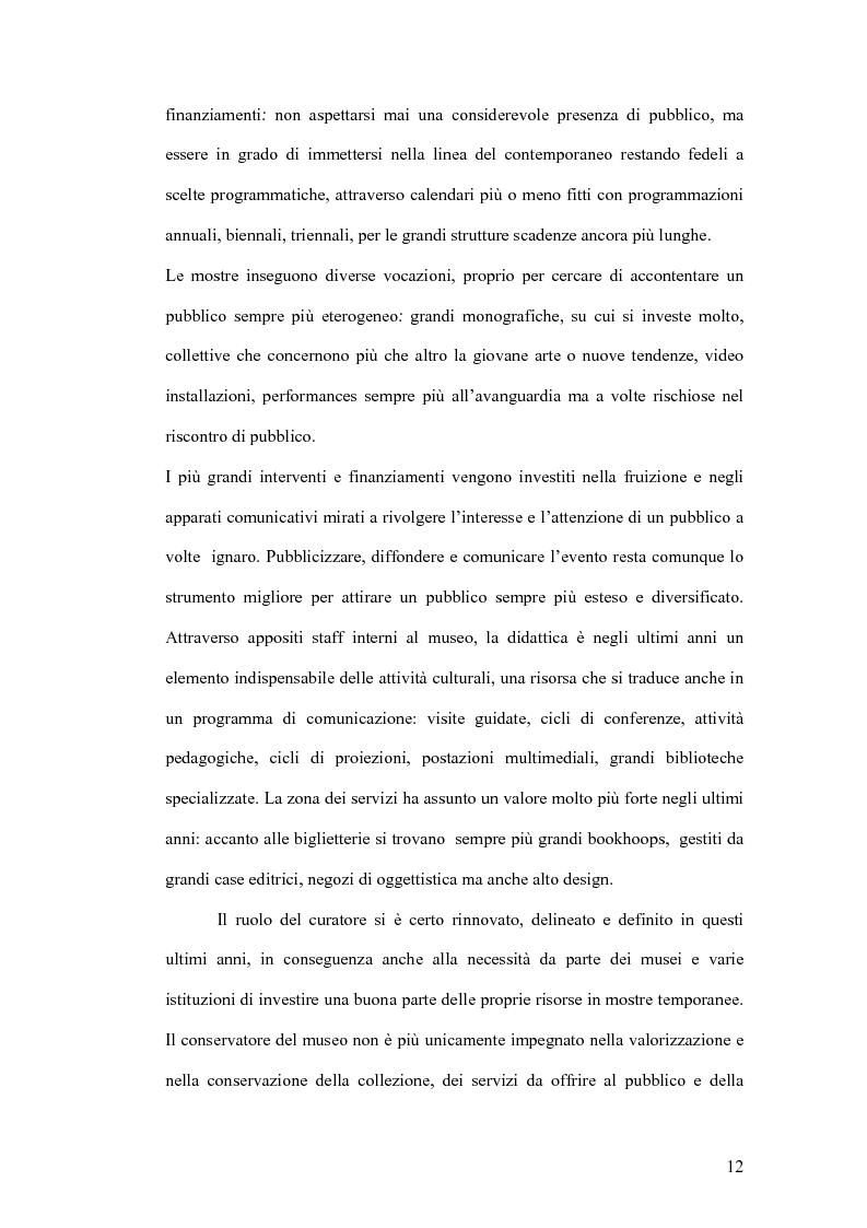 Anteprima della tesi: Fondazioni per l'arte contemporanea: verso la definizione di un modello gestionale, Pagina 10