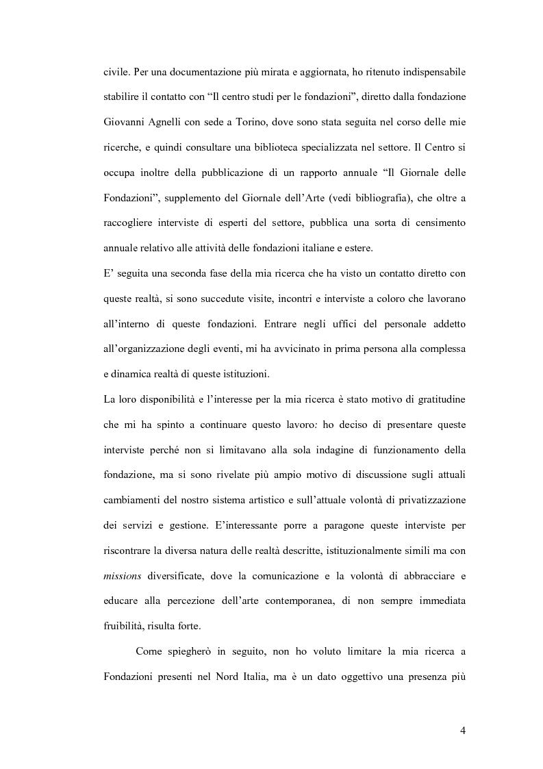 Anteprima della tesi: Fondazioni per l'arte contemporanea: verso la definizione di un modello gestionale, Pagina 2