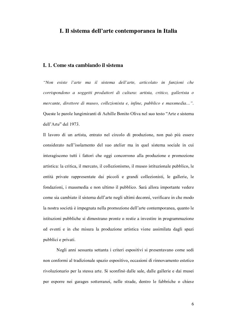 Anteprima della tesi: Fondazioni per l'arte contemporanea: verso la definizione di un modello gestionale, Pagina 4