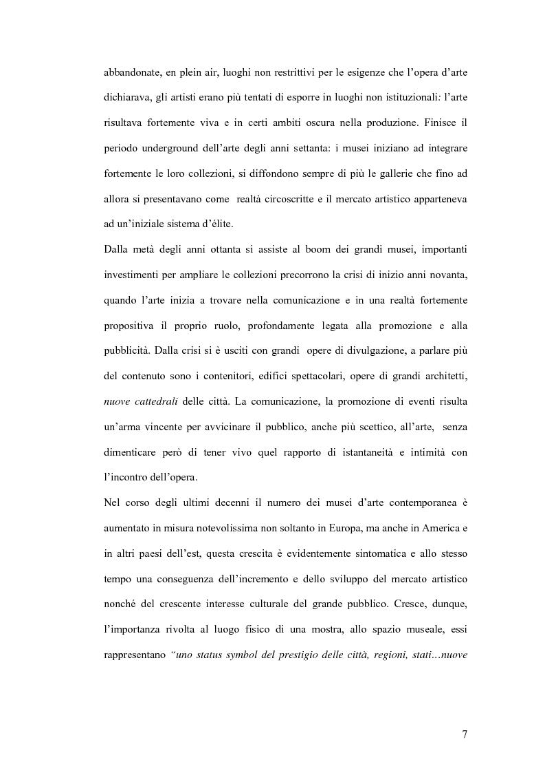 Anteprima della tesi: Fondazioni per l'arte contemporanea: verso la definizione di un modello gestionale, Pagina 5