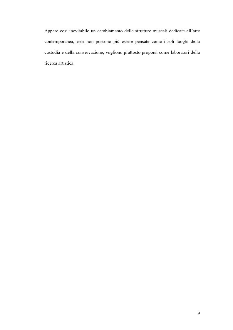 Anteprima della tesi: Fondazioni per l'arte contemporanea: verso la definizione di un modello gestionale, Pagina 7