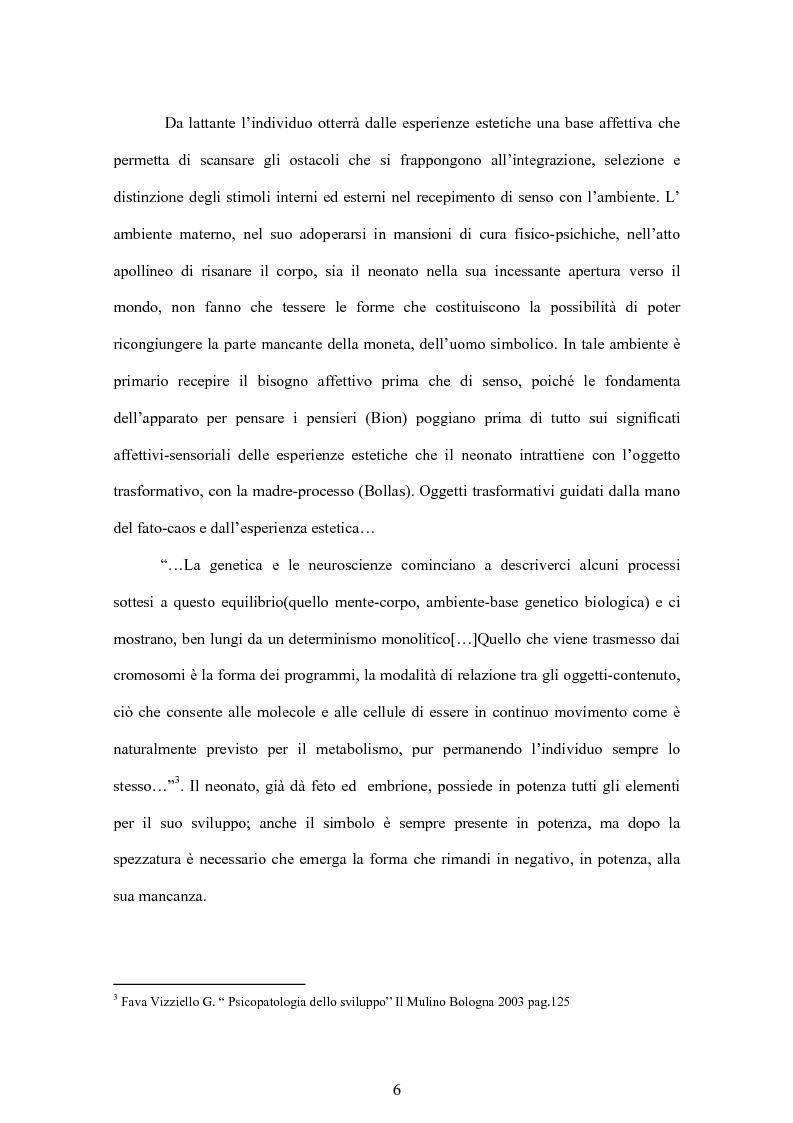 Anteprima della tesi: Tra forma e simbolo: l'inviolato in psicoanalisi, Pagina 3