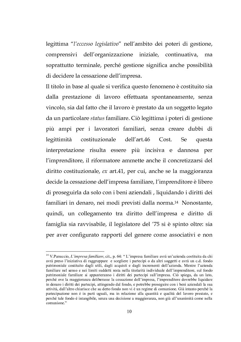 Anteprima della tesi: L'estinzione dell'impresa familiare, Pagina 10