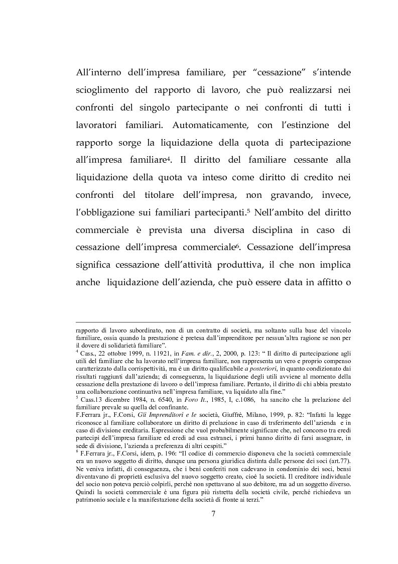 Anteprima della tesi: L'estinzione dell'impresa familiare, Pagina 7