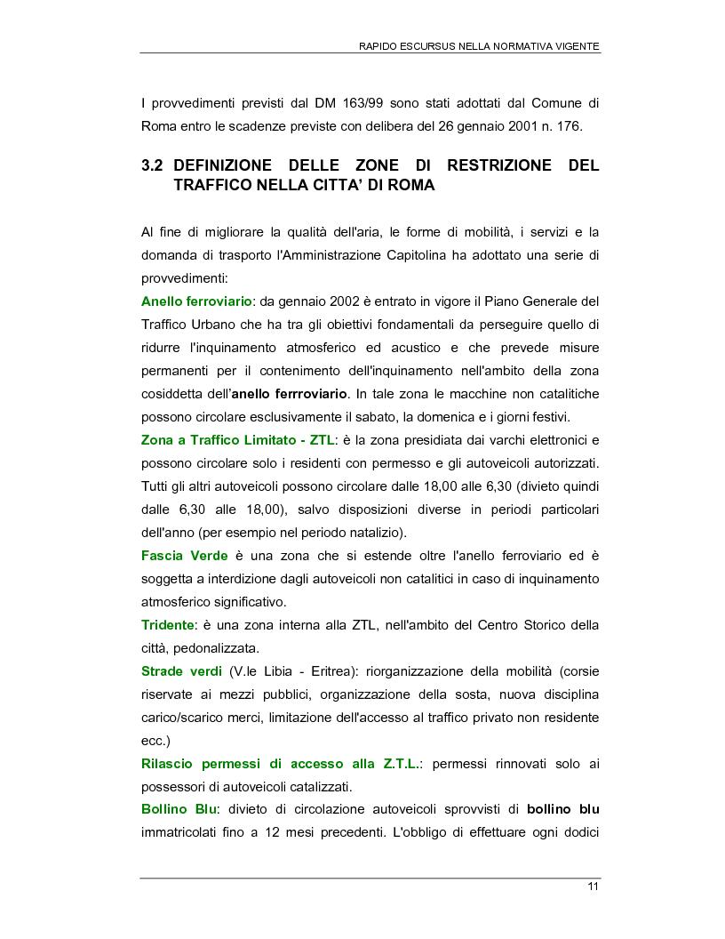 Anteprima della tesi: Interventi per la riduzione della propagazione degli inquinanti derivanti da trasporto pubblico nel IX municipio di Roma, Pagina 11