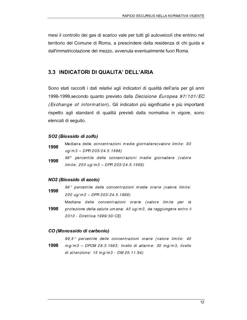Anteprima della tesi: Interventi per la riduzione della propagazione degli inquinanti derivanti da trasporto pubblico nel IX municipio di Roma, Pagina 12