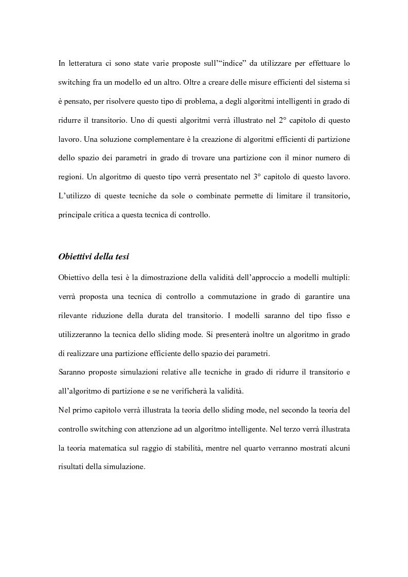 Anteprima della tesi: Controllo a commutazione con retroazione dall'uscita di processi incerti, Pagina 5