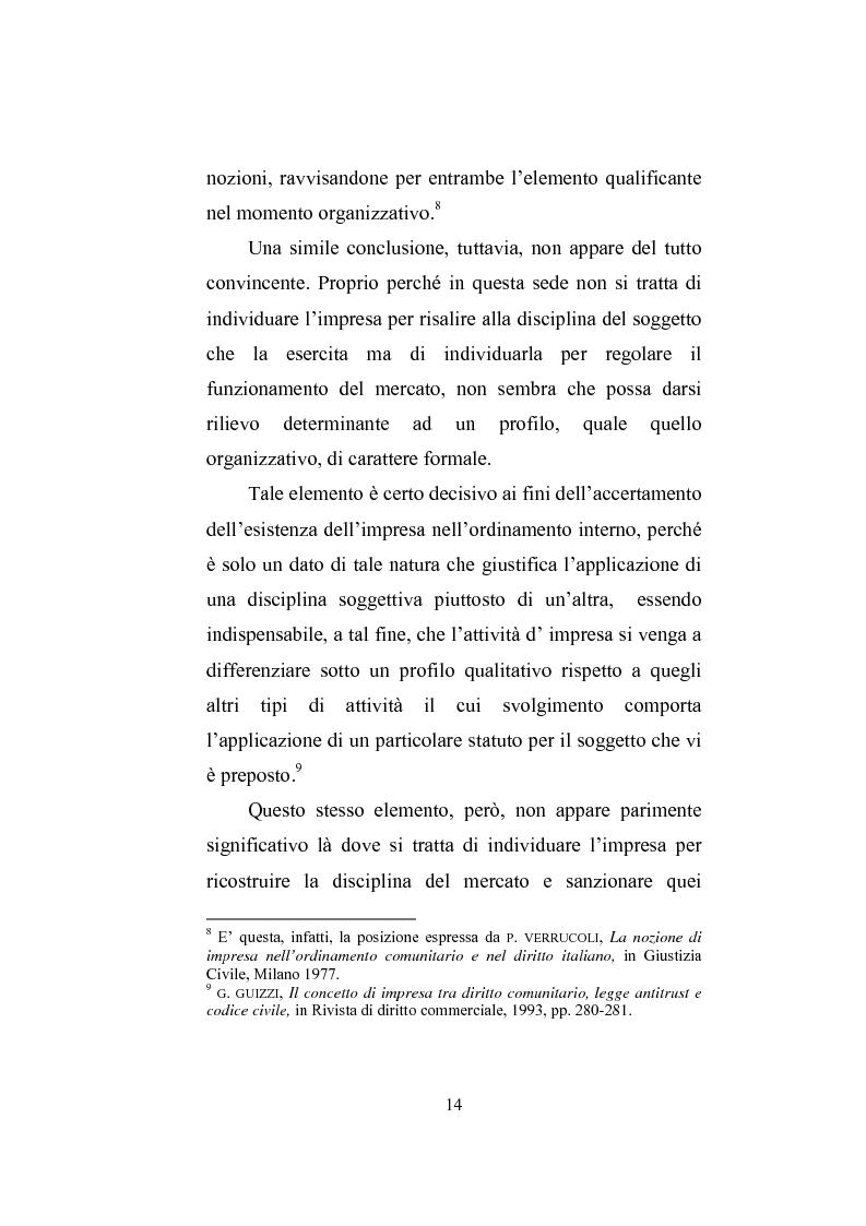 Anteprima della tesi: Il professionista intellettuale e la legge antitrust 287/90, Pagina 14