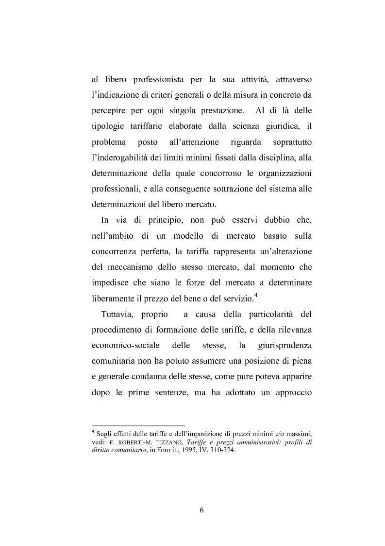 Anteprima della tesi: Il professionista intellettuale e la legge antitrust 287/90, Pagina 6