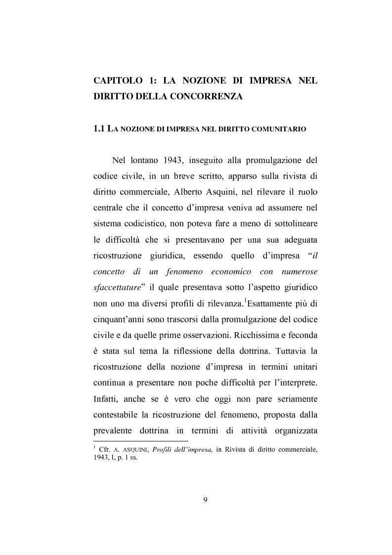 Anteprima della tesi: Il professionista intellettuale e la legge antitrust 287/90, Pagina 9